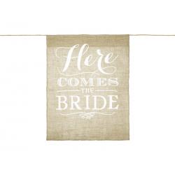 Baner na przejście Panny młodej - Here comes the bride, 41x51cm