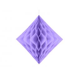 Diament bibułowy, liliowy, 20cm