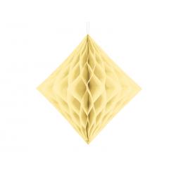 Diament bibułowy, kremowy, 20cm