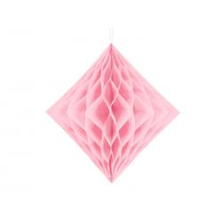 Diament bibułowy, jasny różowy, 20cm