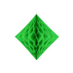 Diament bibułowy, jasna zieleń, 20cm