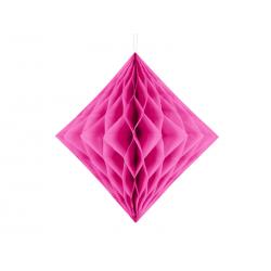 Diament bibułowy, ciemny różowy, 30cm