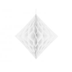 Diament bibułowy, biały, 30cm
