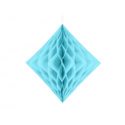 Diament bibułowy, jasny błękit, 30cm