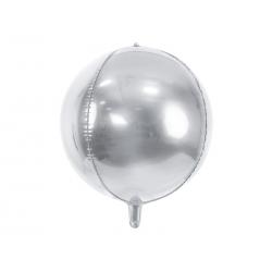 Balon foliowy Kula, 40cm, srebrny