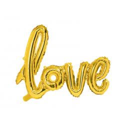 Balon foliowy Love, złoty, 73x59cm