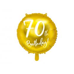 Balon foliowy 70th Birthday, złoty, 45cm