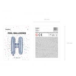 "Balon foliowy Litera ""H"", 35cm, holograficzny"