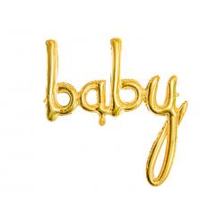 Balon foliowy Baby, złoty, 73,5x75,5cm
