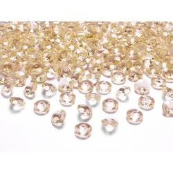 Diamentowe konfetti, złoty, 12mm (1 op. / 100 szt.)