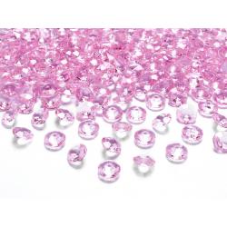 Diamentowe konfetti, j. różowy, 12mm (1 op. / 100 szt.)