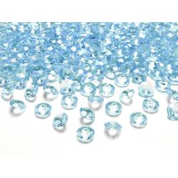 Diamentowe konfetti, turkus, 12mm (1 op. / 100 szt.)