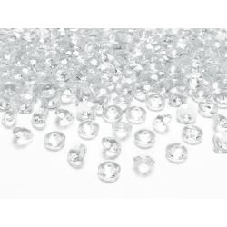 Diamentowe konfetti, bezbarwny, 12mm (1 op. / 100 szt.)
