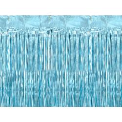 Kurtyna Party, niebieski, 90x250cm
