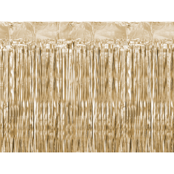 Kurtyna Party, złoty, 90x250cm