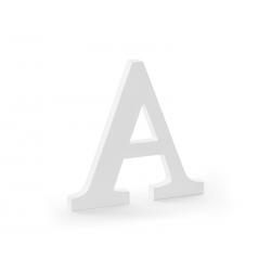 Drewniana litera A, biały, 21,5x20cm