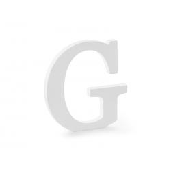 Drewniana litera G, biały, 19,5x20cm
