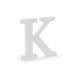 Drewniana litera K, biały, 19,5x20cm