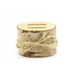 Drewniana podstawka na obrączki, 6cm
