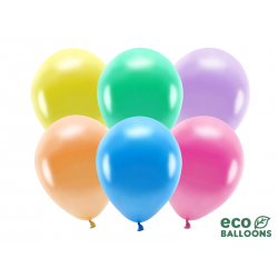 Balony Eco 26cm metalizowane, mix (1 op. / 100 szt.)