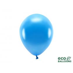 Balony Eco 26cm metalizowane, niebieski (1 op. / 10 szt.)