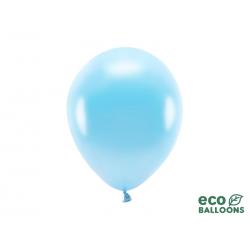 Balony Eco 26cm metalizowane, jasny niebieski (1 op. / 100 szt.)
