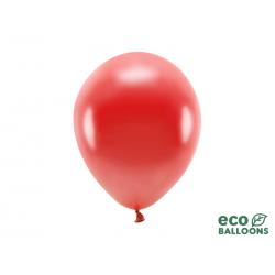 Balony Eco 26cm metalizowane, czerwony (1 op. / 100 szt.)