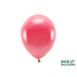 Balony Eco 26cm metalizowane, jasny czerwony (1 op. / 100 szt.)