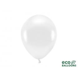 Balony Eco 26cm metalizowane, biały (1 op. / 100 szt.)