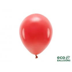 Balony Eco 26cm pastelowe, czerwony (1 op. / 100 szt.)