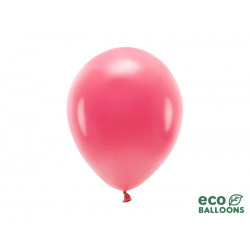 Balony Eco 26cm pastelowe, jasny czerwony (1 op. / 10 szt.)