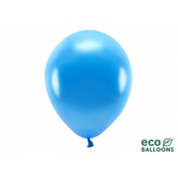 Balony Eco 30cm metalizowane, niebieski (1 op. / 100 szt.)