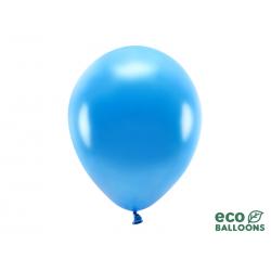 Balony Eco 30cm metalizowane, niebieski (1 op. / 10 szt.)