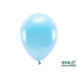 Balony Eco 30cm metalizowane, jasny niebieski (1 op. / 100 szt.)
