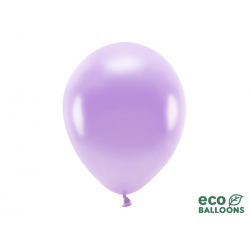Balony Eco 30cm metalizowane, lawenda (1 op. / 10 szt.)