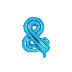 Balon foliowy &, 35cm, niebieski
