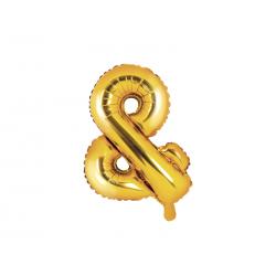 Balon foliowy &, 35cm, złoty
