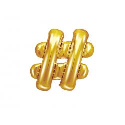 Balon foliowy , 35cm, złoty