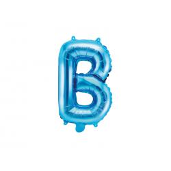 """Balon foliowy Litera """"B"""", 35cm, niebieski"""