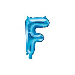 """Balon foliowy Litera """"F"""", 35cm, niebieski"""