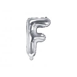 """Balon foliowy Litera """"F"""", 35cm, srebrny"""