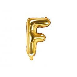 """Balon foliowy Litera """"F"""", 35cm, złoty"""