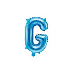 """Balon foliowy Litera """"G"""", 35cm, niebieski"""