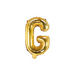 """Balon foliowy Litera """"G"""", 35cm, złoty"""
