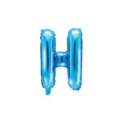 """Balon foliowy Litera """"H"""", 35cm, niebieski"""