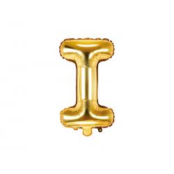 """Balon foliowy Litera """"I"""", 35cm, złoty"""