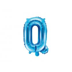 """Balon foliowy Litera """"Q"""", 35cm, niebieski"""