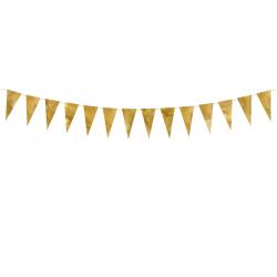 Girlanda flagietki, złoty, 2,15 m