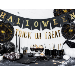 Baner Halloween, czarny, 20x175cm