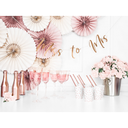 Baner Miss to Mrs, różowe złoto, 18x76cm